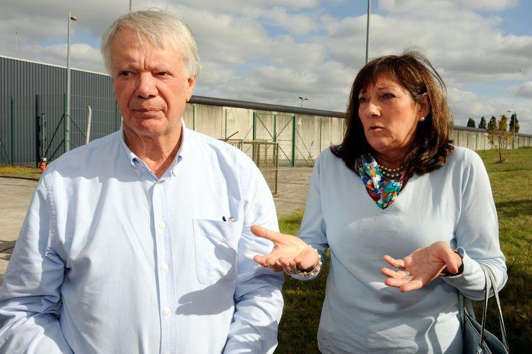Jean Lambrecks, vader van de vermoorde Eefje, met zijn vriendin Els Schreurs.