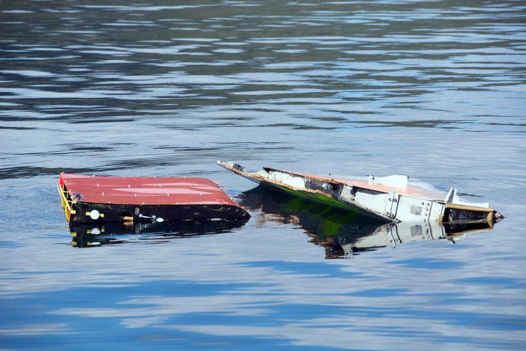 Een wrakstuk van een Boeing, het afgelopen jaar gevonden nabij Hobart, hoofdstad van Tasmanië.