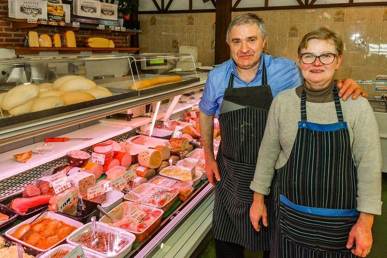 Uitbaters Frans Dolfen en echtgenote Carine Jonckheere sloten hun supermarkt begin oktober 2017.