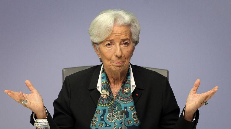 Christine Lagarde, directeur van de Europese Centrale Bank (ECB).  Beeld AFP