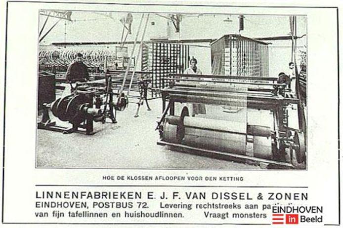 Een oude reclame voor Van Dissel.