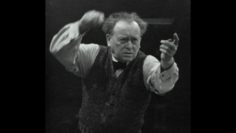 Willem Mengelberg, 50 jaar lang chef-dirigent van het Concertgebouworkest. Beeld EO