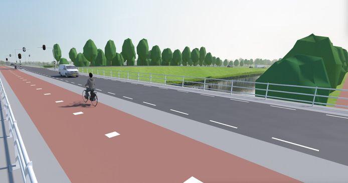 De nieuwe aansluiting van de N279 bij Keldonk.