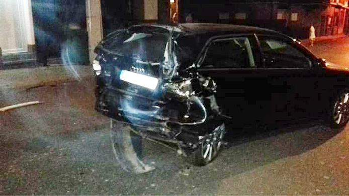 Beide auto's liepen zware schade op