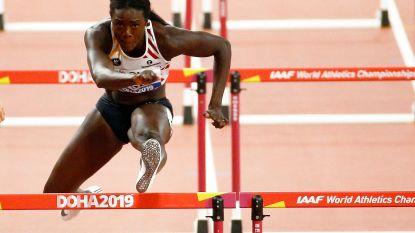 """Anne Zagré met beste seizoenstijd naar halve finale 100m horden: """"Heb indruk dat ik nog sneller kan"""""""