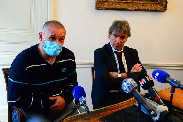 Weduwnaar Christophe Ellul (links) en zijn advocaat.