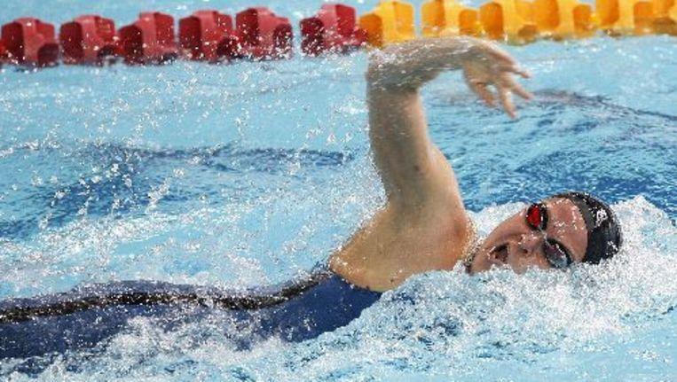 Inge Dekker heeft goud gepakt op de 100 meter vrije slag in Istanbul. Foto ANP Beeld