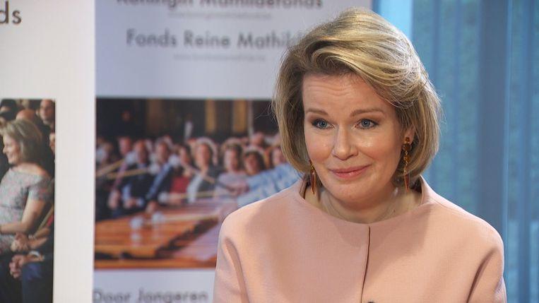 koningin mathilde Beeld VTM NIEUWS