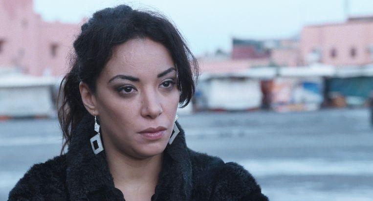 Een beeld uit de film 'Much Loved'. Abidar speelt de rol van Noha, de leidster en hoedster van een groepje van vier prostituees. Beeld rv