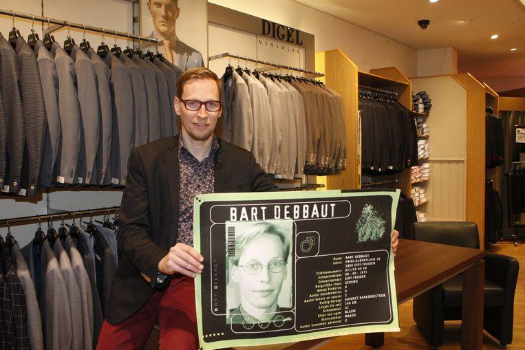 Bart Debbaut heeft tegenwoordig een herenkledingzaak. Hij heeft goede herinneringen aan het tweede seizoen van De Mol, waaraan hij deelnam.