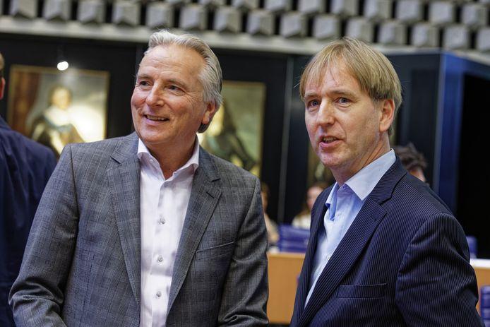 Hans Smolders en Eric de Bie, hoofdrolspelers bij Forum voor Democratie in Brabant.