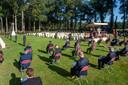 Herdenking zonder publiek en zonder veteranen op de Airborne begraafplaats in Oosterbeek in september 2020.