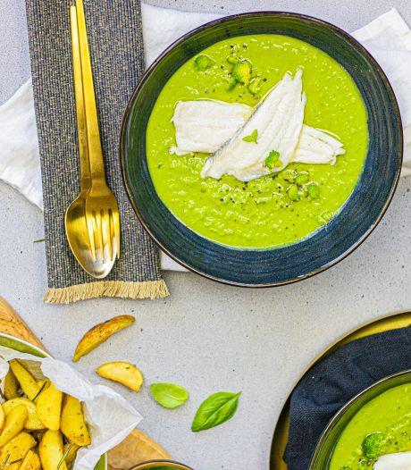 Wat Eten We Vandaag: Scholfilet met broccoli-erwtenpuree en Provençaalse piepers