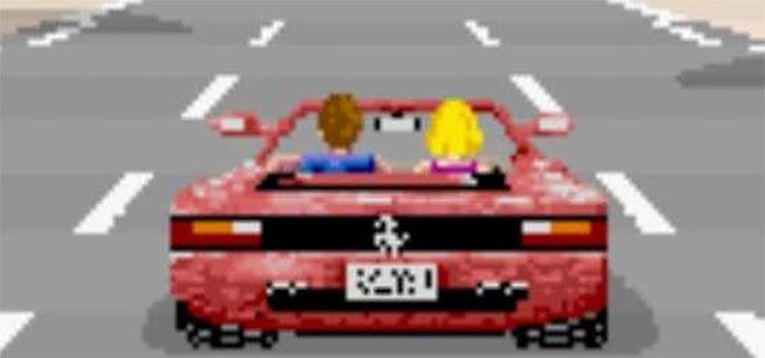In het bekende racespel 'OutRun' gingen gamers met een cabriolet-versie van de Testarossa de strijd aan tegen de klok.