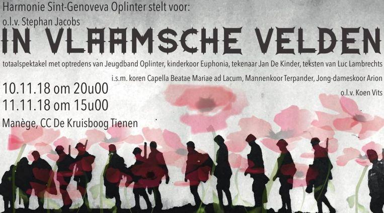 De affiche van het concert