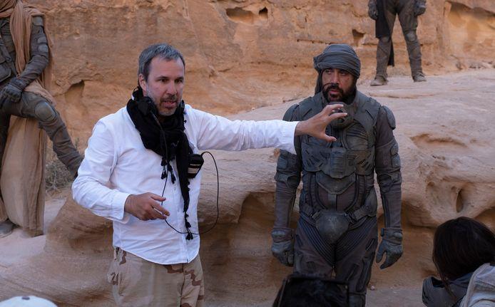 Denis Villeneuve op de set van Dune.