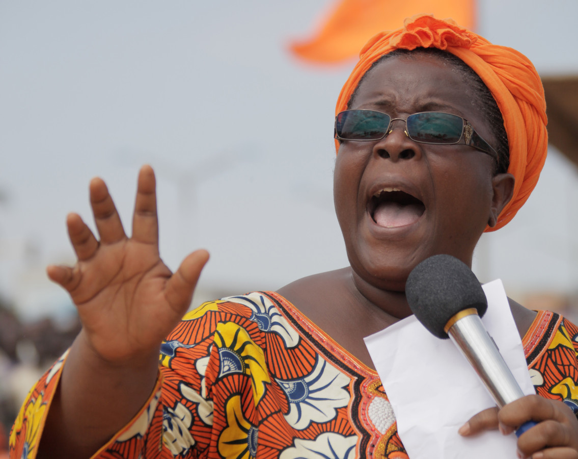 Advocate Isabelle Ameganvi van het Togolese Collectief Redt Togo.