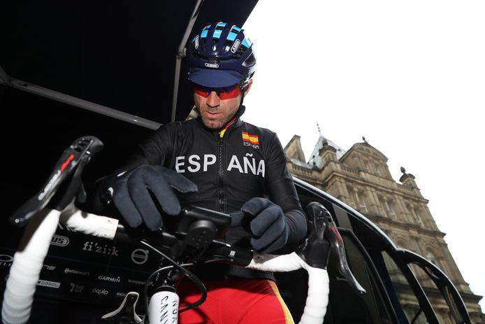 Alejandro Valverde in Yorkshire.