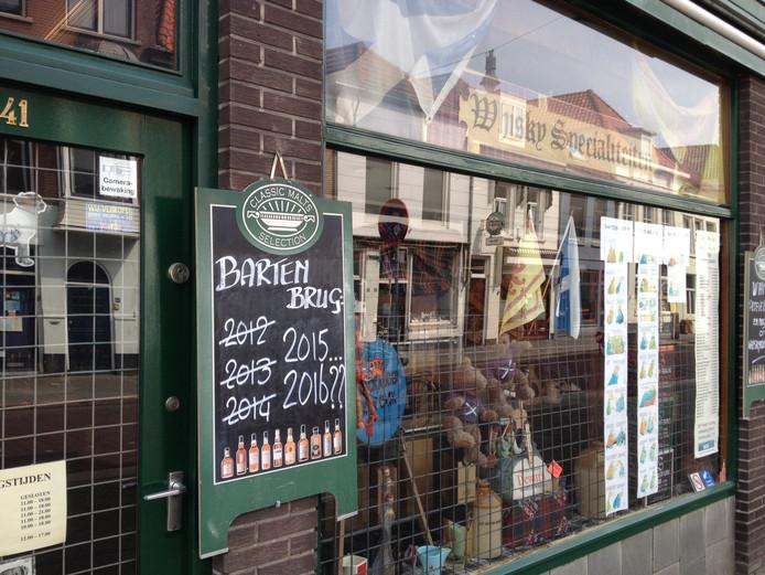 De Whiskykoning aan het Hinthamereinde in Den Bosch is een van de ondernemers die gedupeerd is door de problemen rond de Bartenbrug.