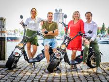 Vier vrienden starten verhuur E-choppers: 'Met zo'n scooter maak je Dordrecht opeens een stuk groter'