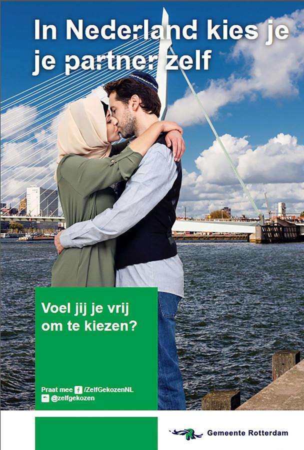 Poster gemeente Rotterdam: In Nederland kies je je partner zelf.