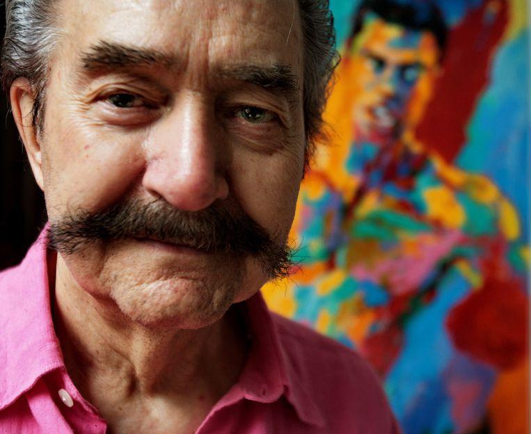 De Amerikaanse kunstenaar LeRoy Neiman. Beeld ap