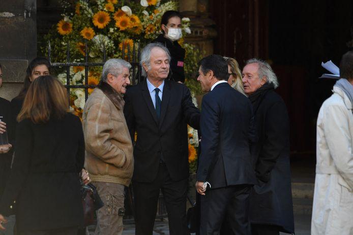De gauche à droite : le producteur français Claude Lelouch, le journaliste franco-américain Franz-Olivier Giesbert, le sportif et homme politique français Christian Estrosi et l'écrivain français Didier Barbelivien