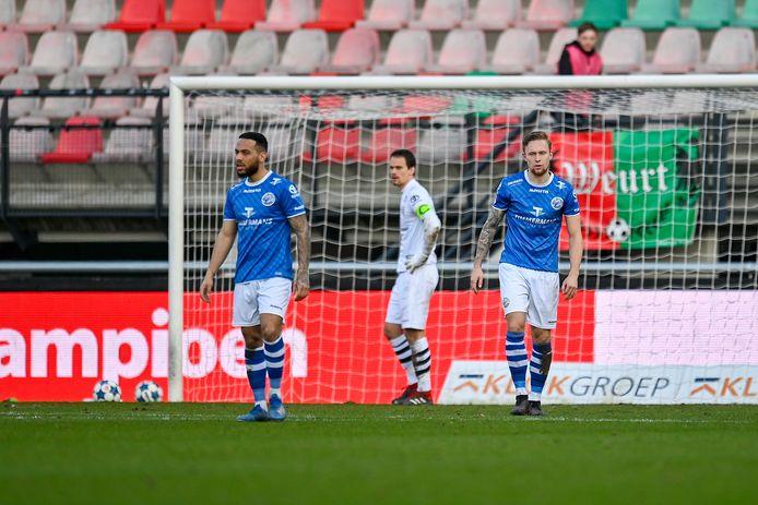 FC Den Bosch treurt na een tegengoal tegen NEC.