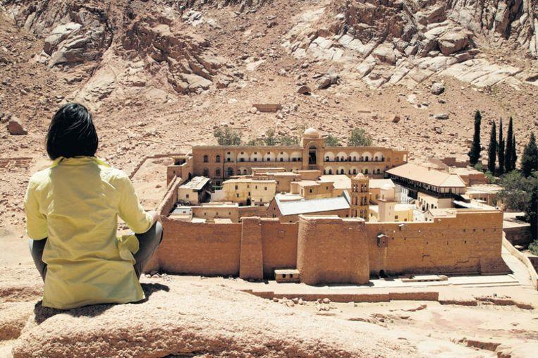 De ongerepte, woeste schoonheid van het achterland van Sharm el Sheik, hier bij wadi Mileyhes. Foto Rénie van der Putte Beeld