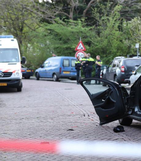 Auto's beschadigd na achtervolging Willem Dreespark Den Haag