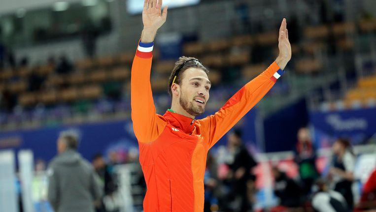 Kjeld Nuis won gisteren goud op de 1000 meter. Beeld AP