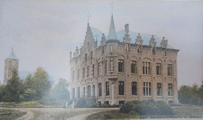 Een ingekleurde postkaart uit 1904 met daarop het Kasteel van Kersbeek.