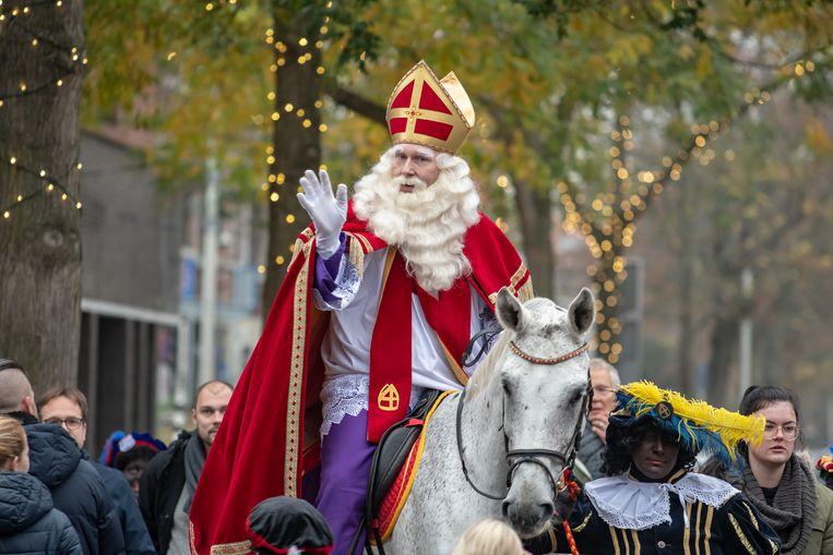 De intocht van Sinterklaas in Den Haag in 2018.  Beeld BSR Agency