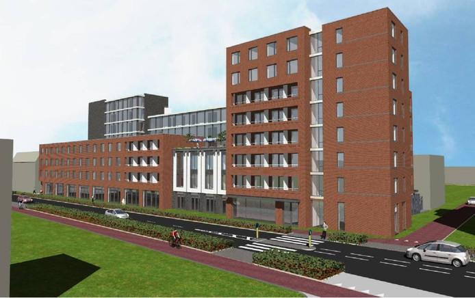 Het oude, door de raad verworpen plan voor nieuwbouw aan de Noordhoekring. Foto: Brabants Dagblad