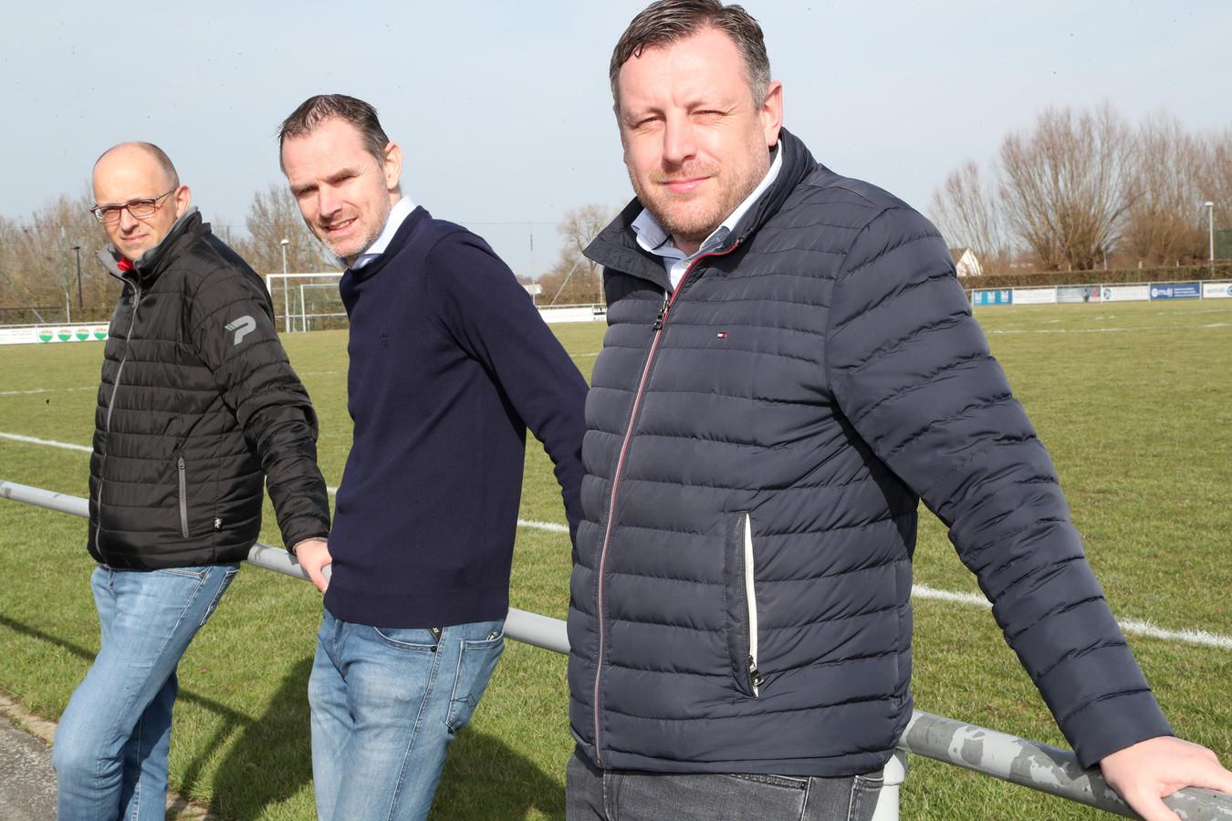 Andy Kindt, Steven Monteyne en Kevin Deman nemen samen de touwtjes in handen bij vierdeprovincialer SV Pittem.