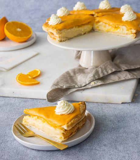 Wat Eten We Vandaag: Oranje tompoucetaart