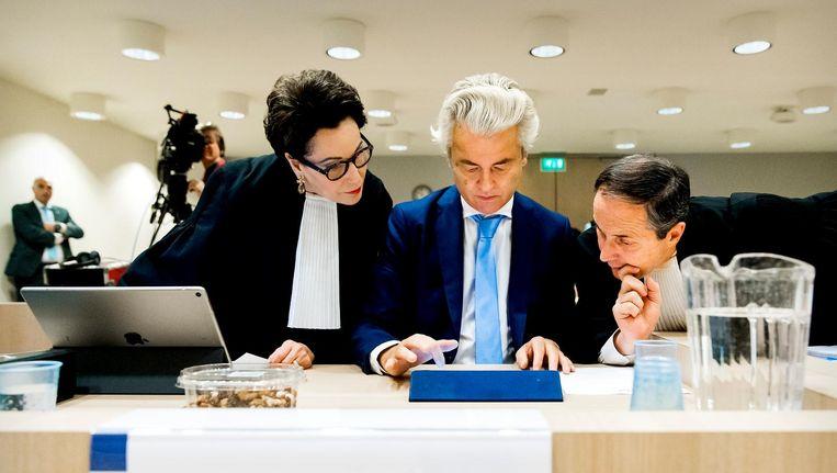 Wilders in de rechtbank bij Schiphol. Beeld anp