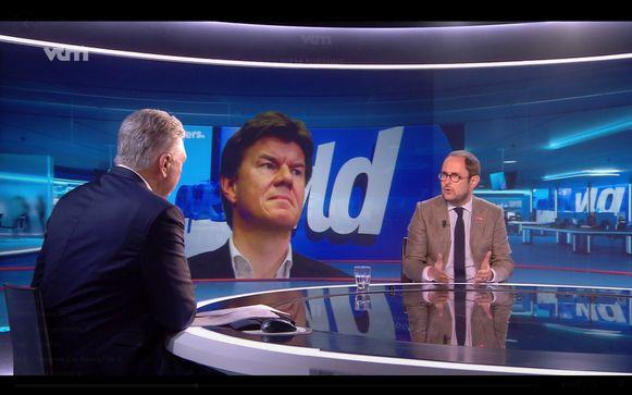 Vincent Van Quickenborne bij VTM nieuws vanmiddag.