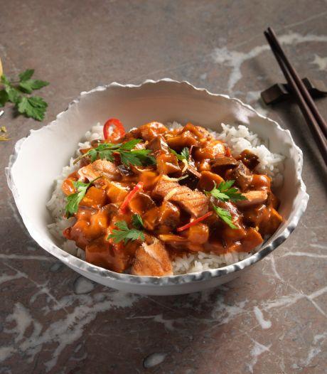 Wat Eten We Vandaag: Libanese curry met zalm en chermoula