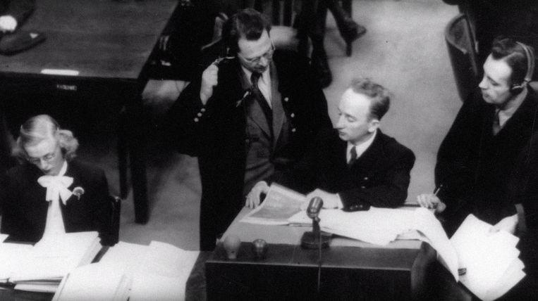 Ferencz als een aanklager van het Neurenberg-proces in 1947-1948. Beeld Everett Collection