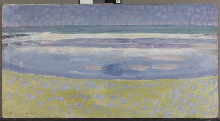 Piet Mondriaan - Zee na Zonsopgang, 1909 Beeld Gemeentemuseum Den Haag