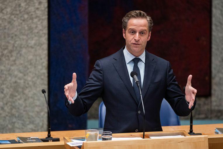 Den Haag - Demissionair Minister Hugo de Jonge van Volksgezondheid, Welzijn en Sport (CDA) tijdens een debat over de ontwikkelingen van het coronavirus Beeld Brunopress