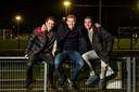 Matthijs met zijn vrienden Nils (links) en Lars.