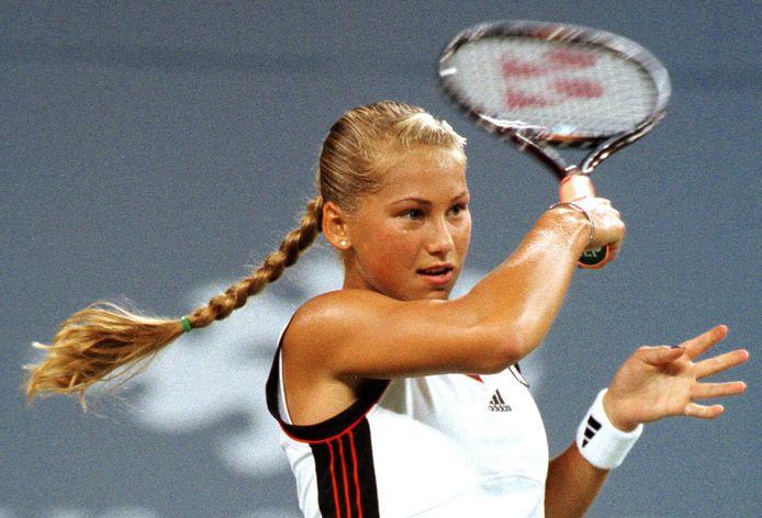 Anna Kournikova in 1998 bij de US Open.