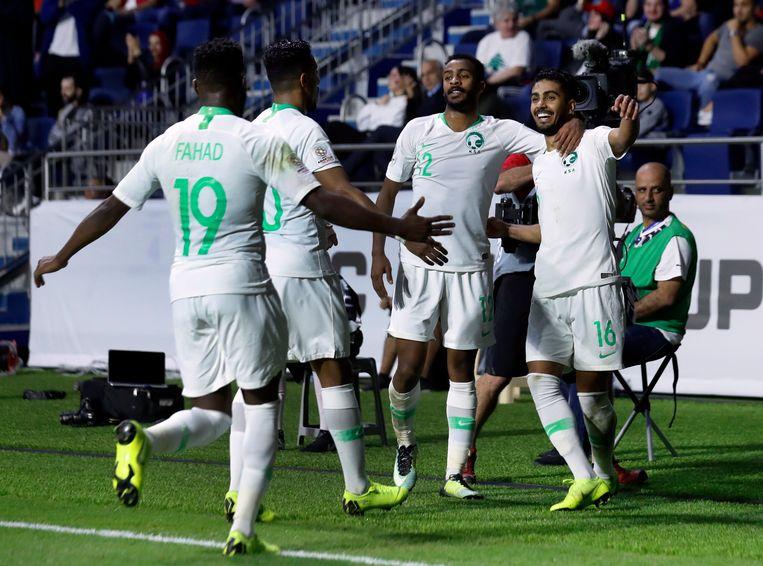 De spelers van Saudi-Arabië.