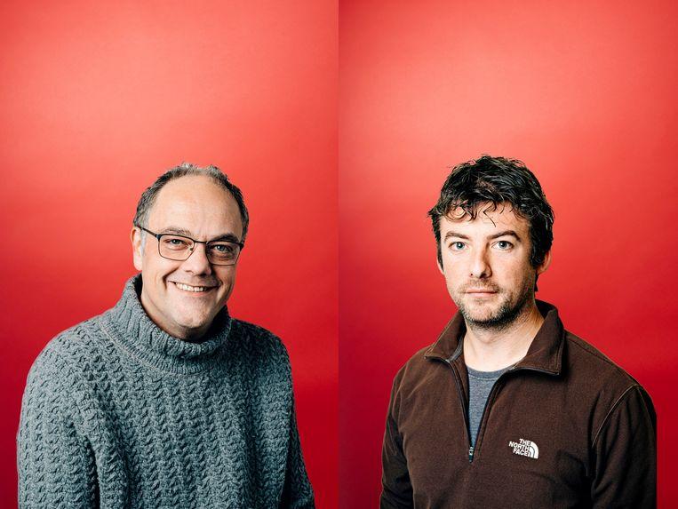 Joz Tercaefs (l) en Frederik Thoelen. Beeld Wouter Van Vooren