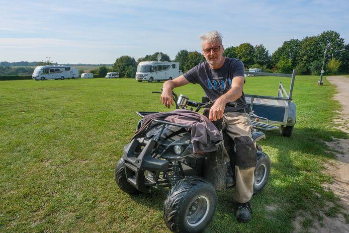 Herman Reynaerts is klaar om heel wat kampeerders op zijn Camping Druivenland in Overijse te ontvangen.