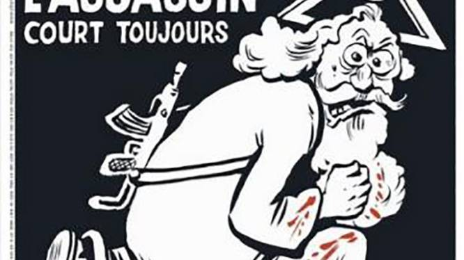God als moordenaar op cover van speciale editie van Charlie Hebdo