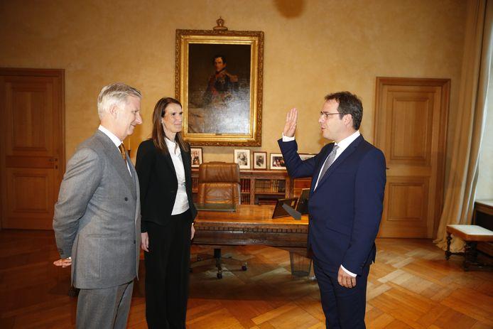 Prestation de serment de David Clarinval en tant que Ministre du Budget et de la Fonction publique, chargé de la Loterie nationale et de la Politique scientifique