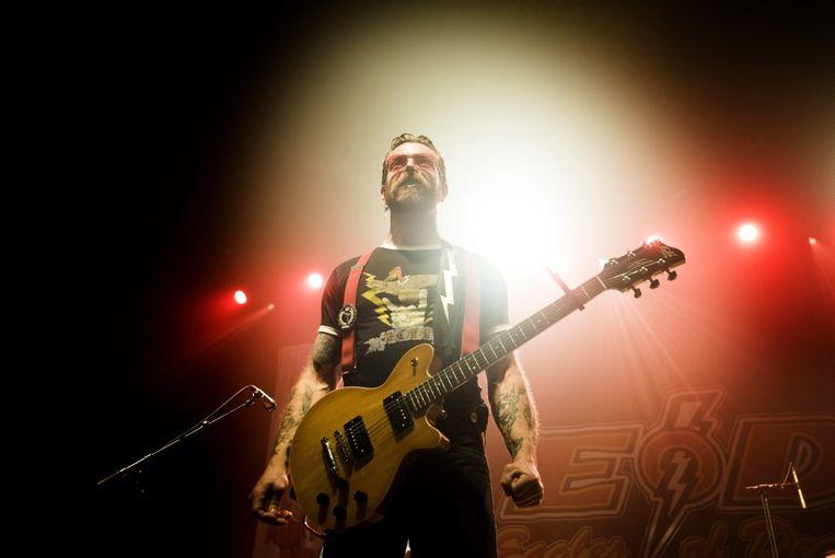 Frontman Jesse 'The Devil' Hughes. Beeld Alex Vanhee